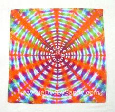 Tie Dye Bandana by TieDyeBySandy on Etsy, $9.99