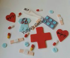 20 Edible doctor/nurse/medical/hospital  cake/cupcakes toppers,handmade decoration by Yulcakes on Etsy https://www.etsy.com/listing/264268301/20-edible-doctornursemedicalhospital