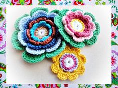 Delighted Petals Crochet Pattern by wonderfulhands on Etsy, $4.50