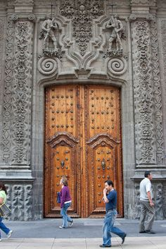The main doors of the Palacio de Iturbide, Mexico