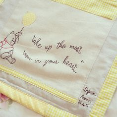 Burrow & Nest Winnie the Pooh nursery cot tidy sewing project