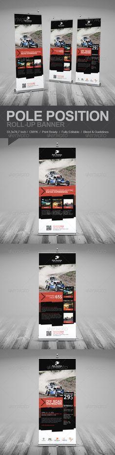Racing School Roll-Up Banner Template #design Download: http://graphicriver.net/item/racing-school-rollup-banner/7438020?ref=ksioks