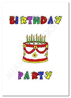 Printable Birthday Party Invitation  by attitudesindesign on Etsy, $9.00