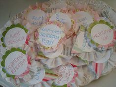 The Birds & the Bees: Heather Bailey Inspired Bunting Baby Shower