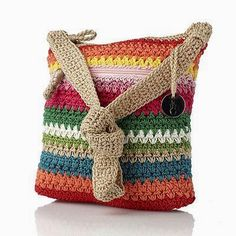 The Sak Crochet Cross Body Bag I can make that! Crochet Diy, Crochet Cross, Love Crochet, Crochet Tote, Crochet Handbags, Crochet Purses, The Sak Handbags, Tapestry Crochet, Knitted Bags