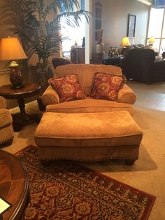 Overstuffed Chairs And Ottomans For The Home In 2019