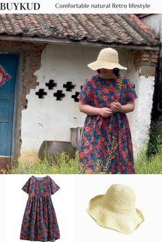 Boho Fashion, Fashion Beauty, Looks Plus Size, Plus Size Pants, Comfy Dresses, Loose Sweater, Summer Essentials, Dressmaking, Cotton Linen