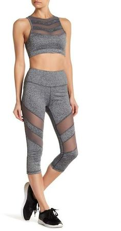 620f90464ba14 16 Best mesh panel leggings images | Athletic outfits, Workout ...