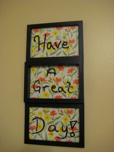 Black Dry Erase Board by SarahKCreations on Etsy, $9.00 * Marker not included