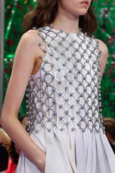 Dior Haute Couture Reminds me of a chain mail vest that I can totally wear with Jeans, cocktail dresses. anything.