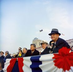 President John F. Kennedy and Vice President Lyndon B. Johnson Attend Army-Navy Football Game. 12/2/61