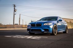 This BMW F10 M5 comes with a set of Vorsteiner aftermarket aero parts and a custom set of V-FF 105 Flow Forged wheels.