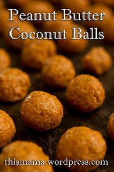 Sea-Salted Peanut Butter & Coconut Balls with Honey | #glutenfree #dairyfree