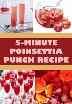 The best way to save on alcoholic beverages at a party? Serve a signature cocktail like Poinsettia Punch...it's festive and frugal!