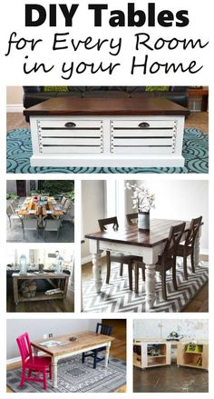 Save tons of money and get the style that you want by building your own. DIY Tables for every room in your home! Some of the most popular table plans around.