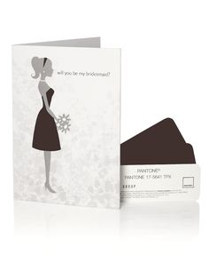 PANTONE WEDDING™ Will You Be My Bridesmaid Card - espresso    #bridesmaidcards #weddings