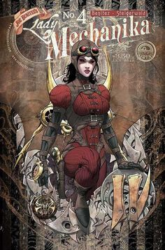 """Lady Mechanika is the newest creator-owned comic book series by American comic book artist Joe Benitez, inspired by the steampunk genre. """"Steampunk"""" is Lady Mechanika, Steampunk Kunst, Steampunk Book, Steampunk Fashion, Gothic Fashion, Steampunk Artwork, Comic Book Artists, Comic Books Art, Comic Art"""
