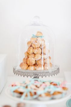 Cute way to display donut holes/ breakfast party