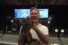 James Hetfield with his cat, Tabs
