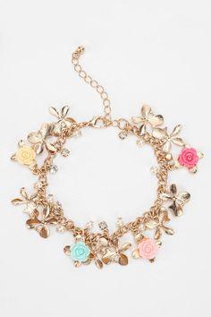 Urban Outfitters - Flower Charm Bracelet
