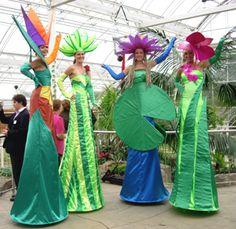 Virtigo Stilts - The Flowers - Stilt Walkers - Walkabout Puppet Costume, Circus Costume, Art Costume, Halloween Themes, Halloween Costumes, Stilt Costume, Fancy Dress Design, Circus Art, Festivals Around The World