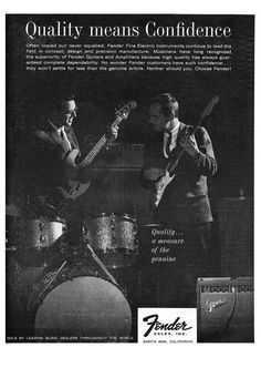 1963 Fender ads Quality Means Confidence