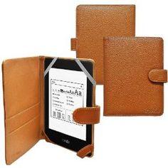 Ionic Folio Leather Case For Amazon Kindle PaperWhite, Kindle Paper White 3G New Kindle eReader (Brown) Leather Case, Red Leather, Amazon New, Kindle Cover, Aleta, Black Exterior, Amazon Kindle, Screen Protector, Electronics