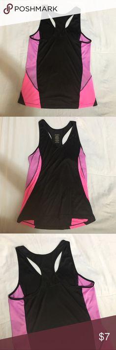 Jockey Workout Top Jockey workout top. Size M. Pink, purple, black. 100% Polyester Jockey Tops Tank Tops