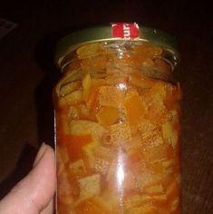 Coji de portocala si lamaie confiate - reteta de dulceata de coji de citrice   Savori Urbane Pickles, Cucumber, Salsa, Jar, Food, Millefeuille Recipe, Recipes, Canning, Essen