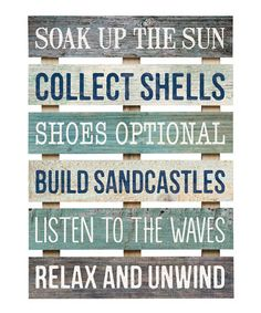 Look at this #zulilyfind! 'Soak Up the Sun' Wall Sign #zulilyfinds