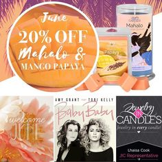 Yay!! I love seeing my favorites in the scents of the month!! Both are so refreshing and captivating and are wonderful everyday scents!!!  20% 20%20% OFF your welcome ::: Come visit http://ift.tt/1IeUHGb  #candles #ecofriendly #healthy #lush #sale #nvusddjic #jewelry #homedecor #interiordesign #spa #relax #yogi #sahm #bosslife #fruit #spring #summer #sixteen #scents #hellojune