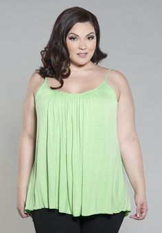 a909271232c Pretty Cami LIme - Black PLus Size Clothing SALE - Take EXTRA 35% OFF all