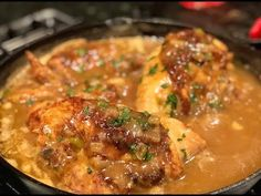 BUTTER ROASTED SMOTHERED CHICKEN !!! - YouTube Smothered Chicken Recipes, Fried Chicken Recipes, Baked Chicken, Chicken Meals, Chicken Curry, Garlic Chicken Wings, Creole Recipes, Dinner Entrees, Chicken Stuffed Peppers