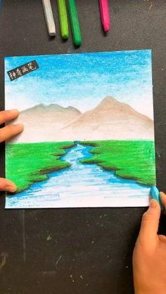 Oil Pastel Drawings Easy, Oil Pastel Paintings, Oil Pastel Art, Oil Pastels, Drawing With Pastels, How To Use Pastels, Pastel Artwork, Art Drawings For Kids, Art Drawings Sketches Simple