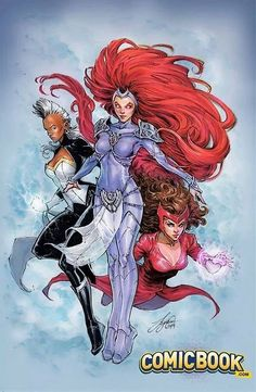 Avengers and X-Men: AXIS #1 variant cover - Medusa, Storm, and Scarlet Witch by Siya Oum *