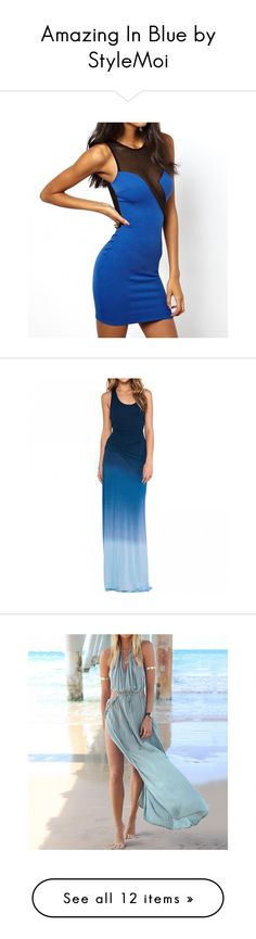 """""""Amazing In Blue by StyleMoi"""" by lejla991 ❤ liked on Polyvore"""