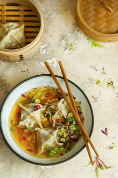 Pork and Leek Wontons in an Asian Broth - Inspirational Recipes
