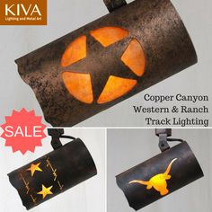 Copper Canyon Western & Ranch Track Lighting #customlighting #rusticlighting #texaslighting