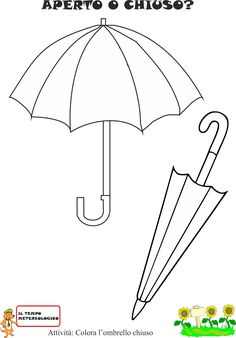 Umbrella Art, Educational Activities For Kids, Art Drawings For Kids, Italian Language, Classroom Crafts, Math For Kids, Preschool Art, Working With Children, Childhood Education