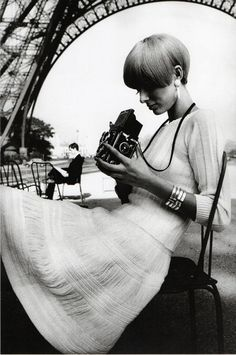 modrules:  Pull et Jupe V.D.E., Paris Vogue France, 1965 Photo by JeanLoup Sieff