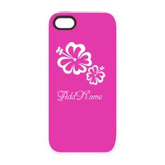 Neon Pink Hibiscus iPhone 5/5S Tough Case