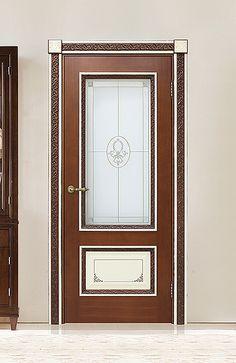 Межкомнатная дверь «Капри». Отделка «вишня + слоновая кость» #дверирулес #двери #межкомнатные #русский_лес