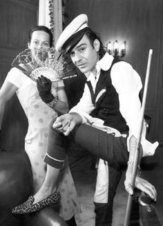 Lady Amanda Harlech and John Galliano (1995)  When Galliano started his label in 1984, this British aristocrat became his right-hand woman, working with the designer until, a dozen years later, he went to Dior and she to Chanel.  August 2012    Read more: http://www.wmagazine.com/fashion/2012/08/40-and-fabulous-w-archives-august-2012-ss#ixzz2FaLTemCA