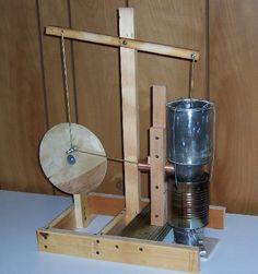 stirling hot air walking beam engine #31