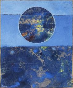 "Max Ernst - Violette Sonne - ""The work is part of a series of paintings he produced in the 1960s which demonstrate Ernst moving toward a more mystical theme in his work."""