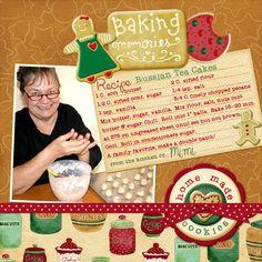 Baking Memories - digital scrapbooking layout