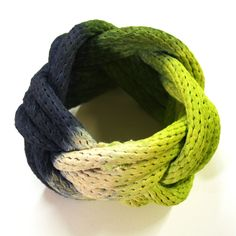 Dipped Rope Bracelet Lime Navy. Could I make this?