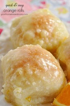 """Quick & Easy Orange Rolls Quick and Easy Orange Rolls - your homebased mom.""""Made with frozen roll dough - these are so amazingly delicious!""""<br> These Quick & Easy Orange Rolls are amazing and so easy to make. Be sure and watch the video down below! Delicious Desserts, Dessert Recipes, Yummy Food, Tasty, Bread Recipes, Cooking Recipes, Recipes With Frozen Bread Dough, Orange Rolls, Comfort Food"""