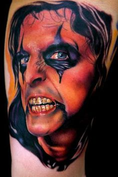 Alice Cooper  - Ink Tattoo- not that I would get this,but it is awesomely done.