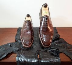 Ascot Shoes — A pair of Wholecut Croc ready for dispatch. Crazy Shoes, Me Too Shoes, Brogues, Loafers Men, Derby, Ascot Shoes, Leather Skin, Only Shoes, Fashion Images